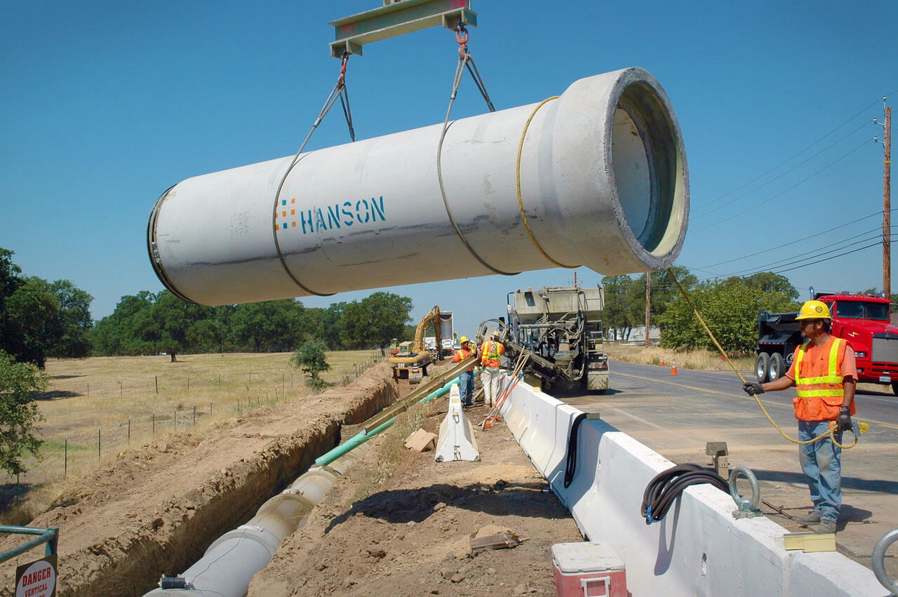 Bickford Ranch Lincoln Regional Sewer 48 inch pipeline construction