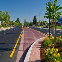 City of Citrus Heights Sunrise Boulevard Streetscape median strips landscaping reversible lanes