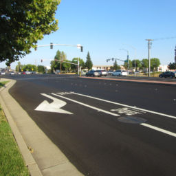 City of Roseville Blue Oaks Boulevard Widening right turn lane bike lane intersection