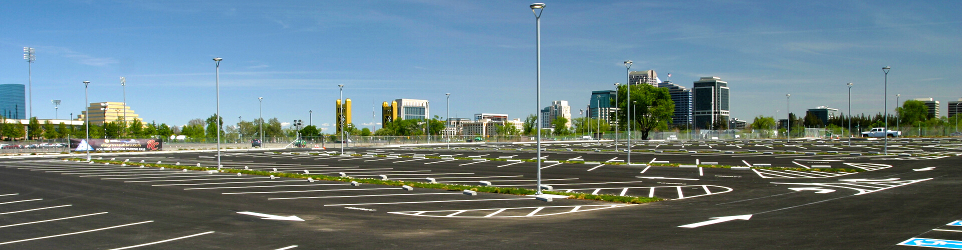 West Sacramento Bridge District Parking Lot