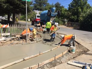 City of Biggs Safe Routes to School Project Construction Photo