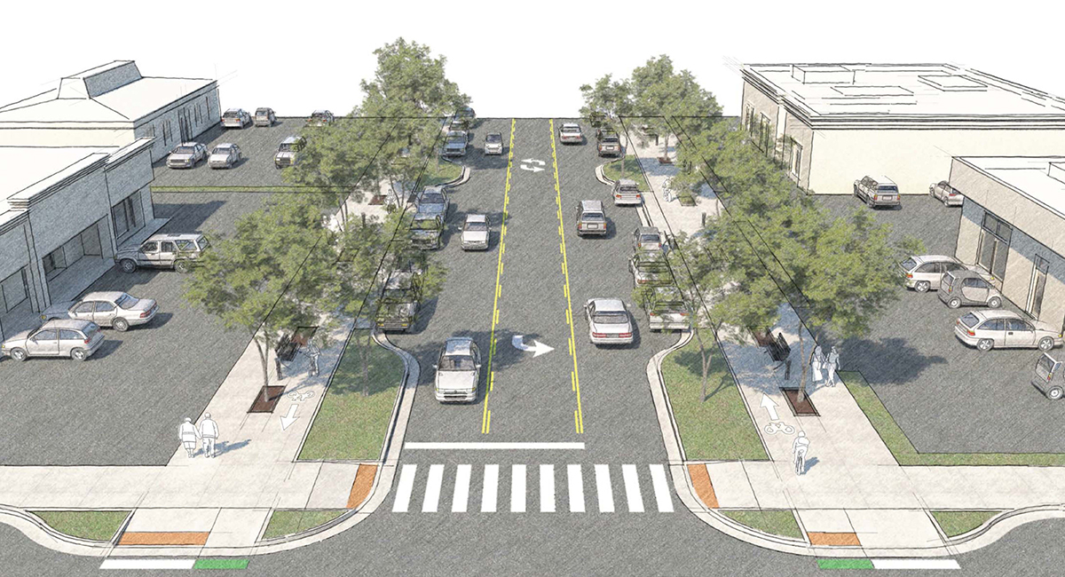 Protected Bike Lanes are Featured in Franklin Boulevard Complete Street Conceptual Plan