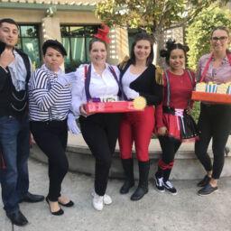 Staff in Halloween Costumes