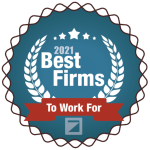 2021 Best Firms to Work For Award Medallion